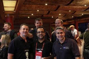 The Triton Team - left-right - Mark Gillis & James Gill (back) Paul Stoker, Iqbal Goralwalla and Julian Stuhler