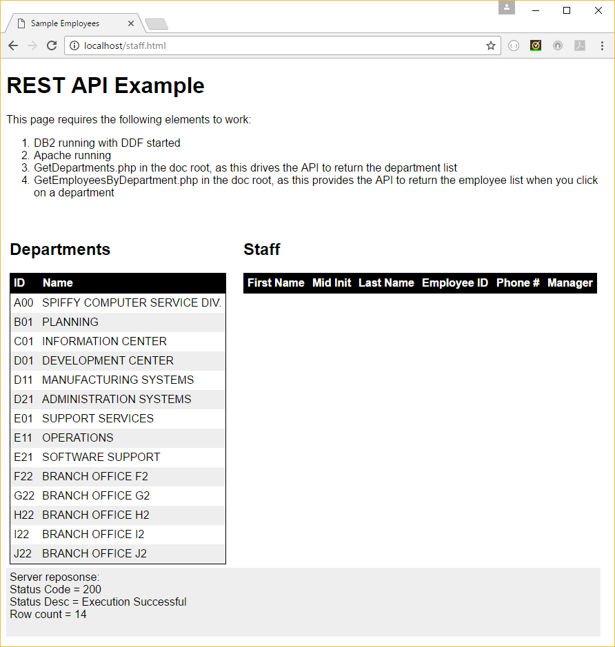 DB2 Native REST API – A Sample REST Application | Triton