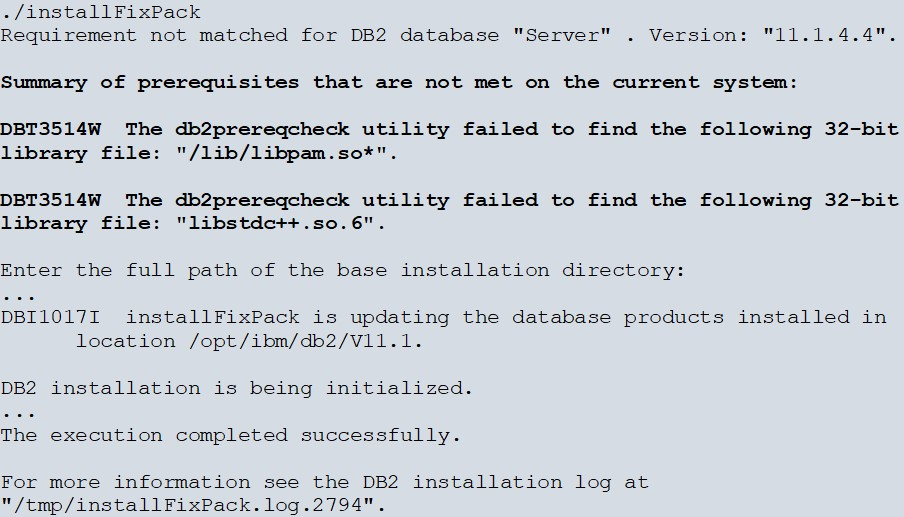 DB2 FixPack Installation on AWS Linux image 7