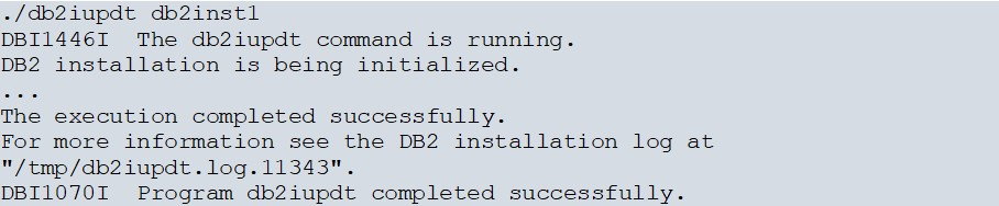 DB2 FixPack Installation on AWS Linux image 8