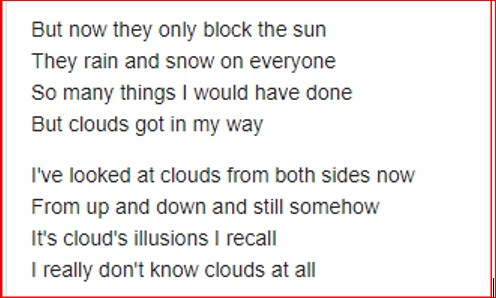 Joni Mitchell Cloud Lyrics