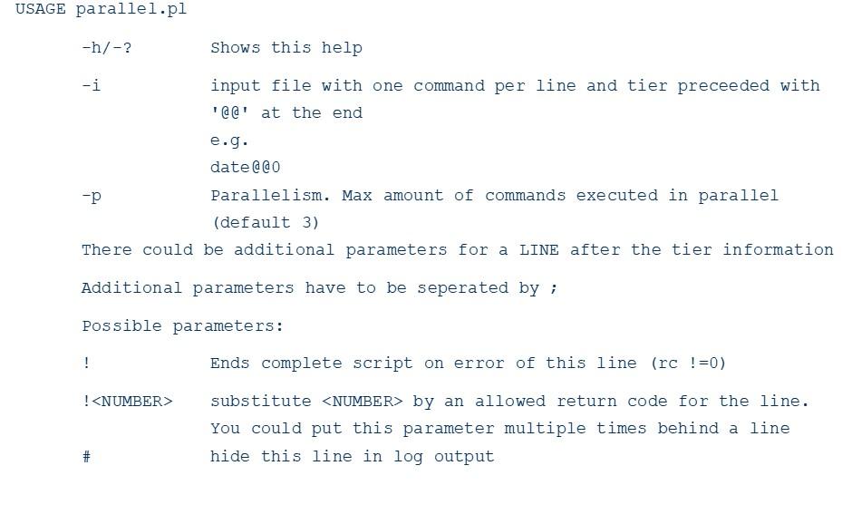Running dependent DB2 tasks in parallel