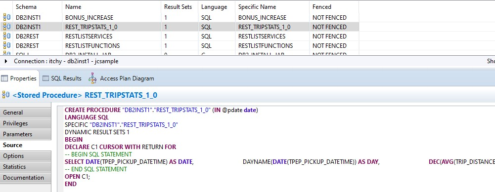 stored procedure select statement
