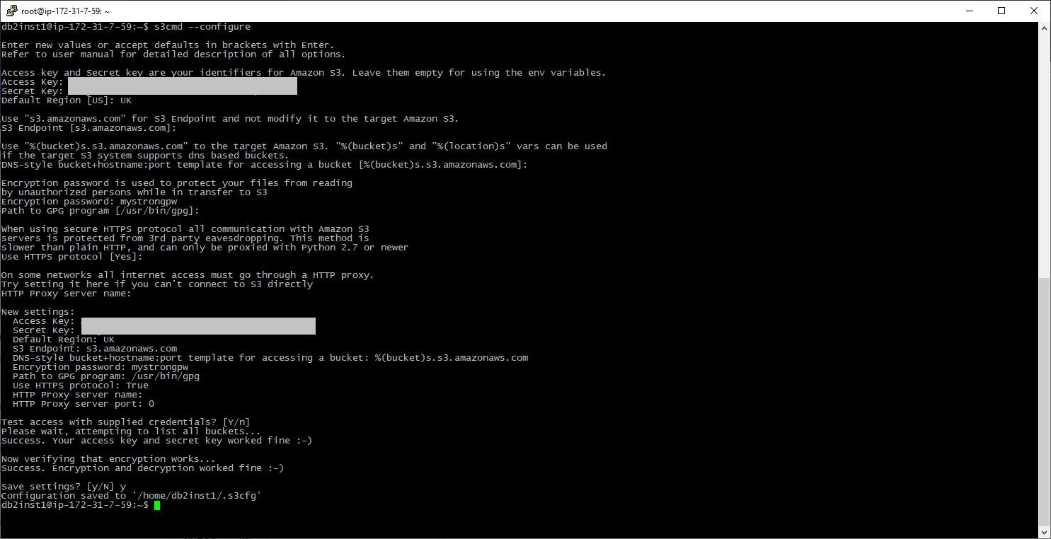 Configure s3cmd